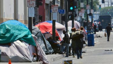 The California bill would increase corporate taxes to tackle homelessness