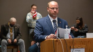 Rep. Jeff Magrum, R-Hazelton, presents a bill in front of the North Dakota House Judiciary Committee on Monday, Jan. 25. Jeremy Turley / Forum News Service