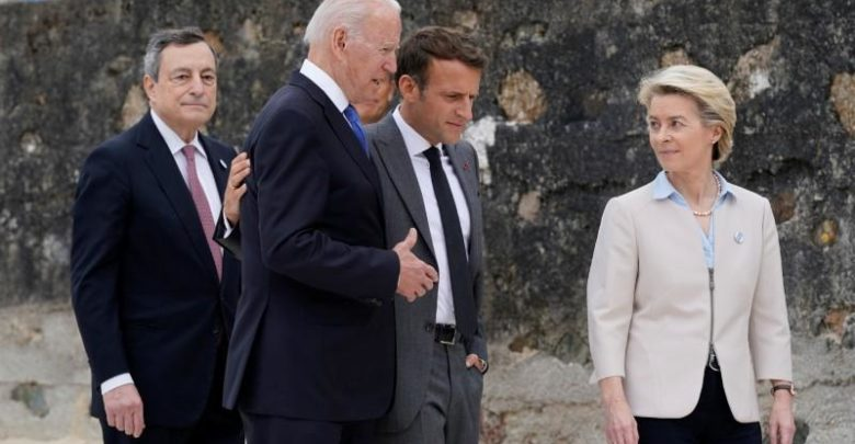 The White House says G7 leaders will approve the proposed minimum global corporate tax of 15%