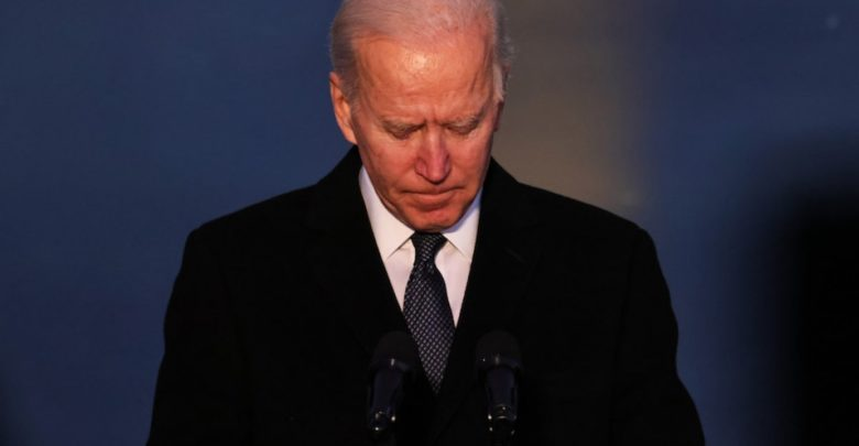 Biden said he was considering lowering the corporate tax hike to fund the establishment plan