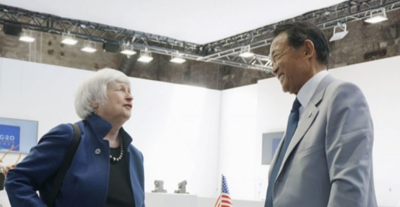 G-20 chief financial officers want to support the global minimum tax rate for companies